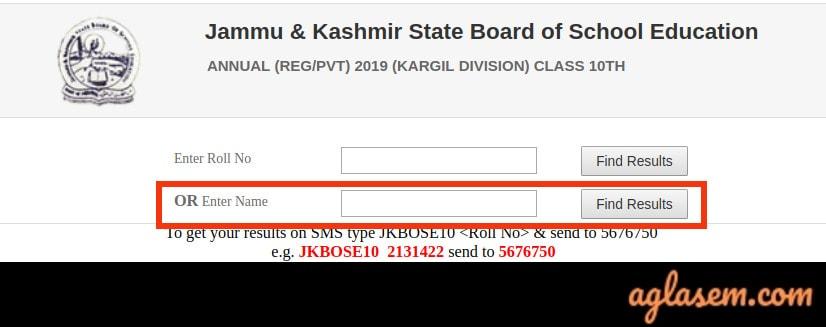 JKBOSE 10th Annual Result 2019 For Kargil Division