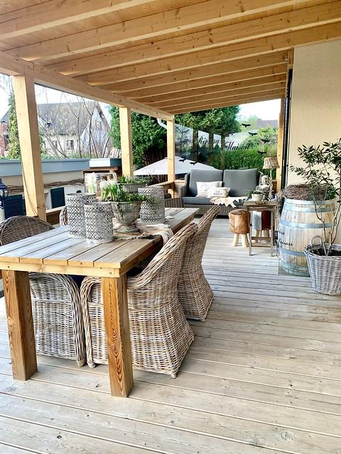 Houten vloer veranda landelijke tuinset