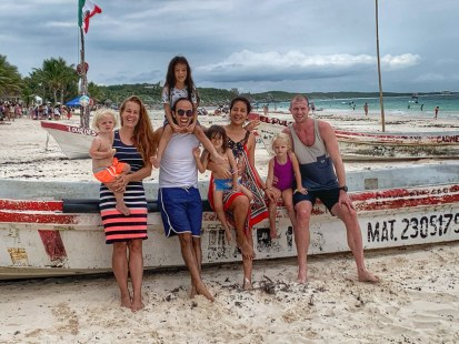 With our dear Mexican friends in Tulum (feb 2020)