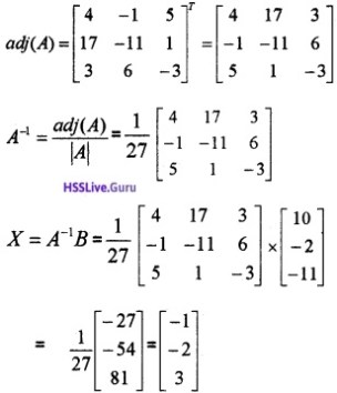 Plus Two Maths Determinants 6 Mark Questions and Answers 50