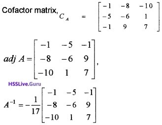 Plus Two Maths Determinants 6 Mark Questions and Answers 65