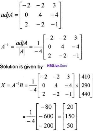 Plus Two Maths Determinants 6 Mark Questions and Answers 58