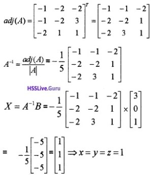 Plus Two Maths Determinants 6 Mark Questions and Answers 47