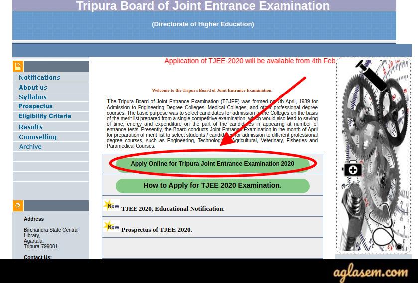 TJEE 2020 Application Form