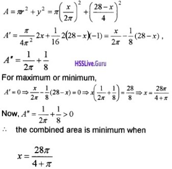 Plus Two Maths Application of Derivatives 6 Mark Questions and Answers 67