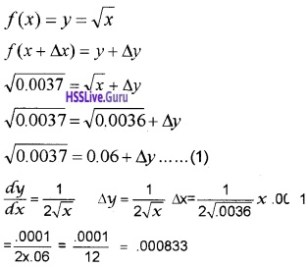 Plus Two Maths Application of Derivatives 4 Mark Questions and Answers 35