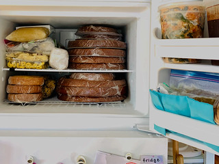 one's freezer during a wedding cake week