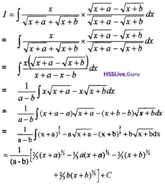 Plus Two Maths Integrals 4 Mark Questions and Answers 44