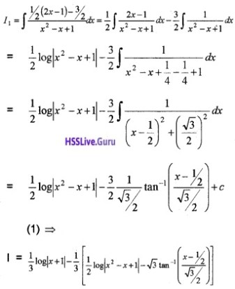 Plus Two Maths Integrals 6 Mark Questions and Answers 74