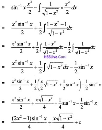 Plus Two Maths Integrals 4 Mark Questions and Answers 36