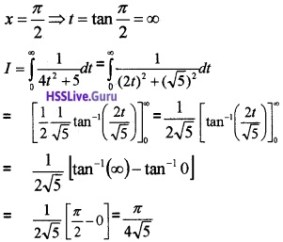 Plus Two Maths Integrals 3 Mark Questions and Answers 10