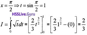 Plus Two Maths Integrals 3 Mark Questions and Answers 8