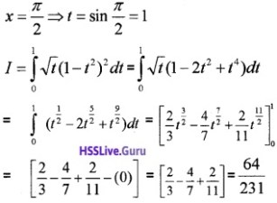 Plus Two Maths Integrals 3 Mark Questions and Answers 6