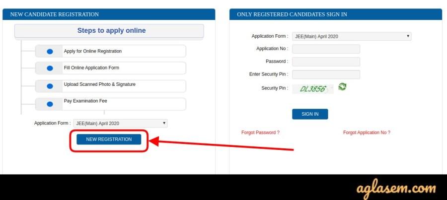 JEE Main Registration