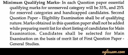 CGPS State Service Qualifying Marks