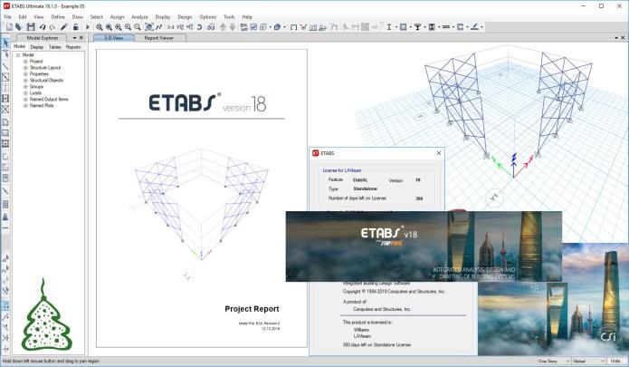 Working with CSI ETABS Ultimate 18.1 full license