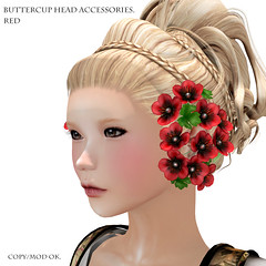 *NAMINOKE*ButterCup Head Accessories red
