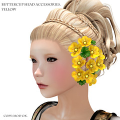*NAMINOKE*ButterCup Head Accessories yellow