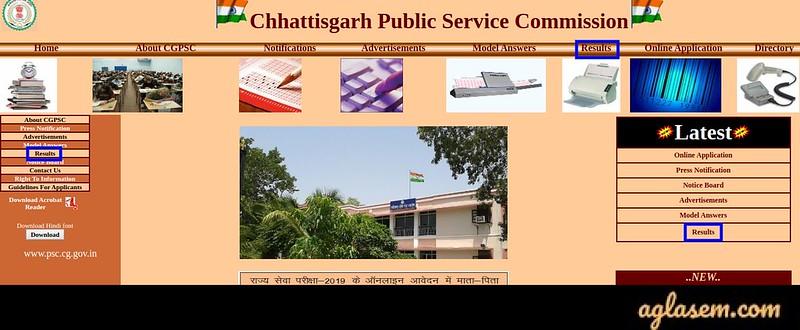 Chhattisgarh Civil Judge Result 2020