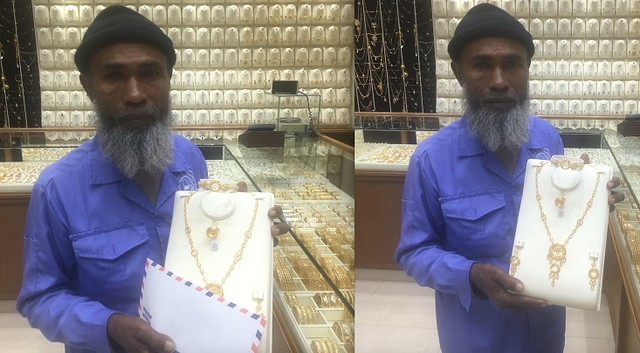 3312 A Street Cleaner who earns SR 700 per month gifted with Gold Sets, Iphone 7, Flight Tickets 00