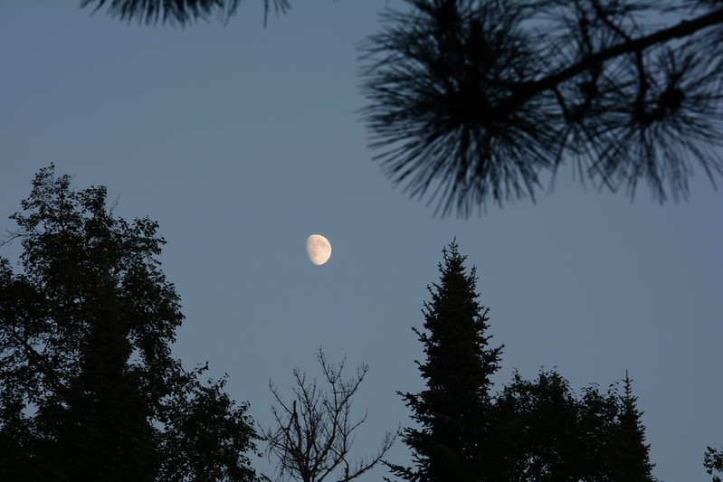 Moon at Clearwater Lake