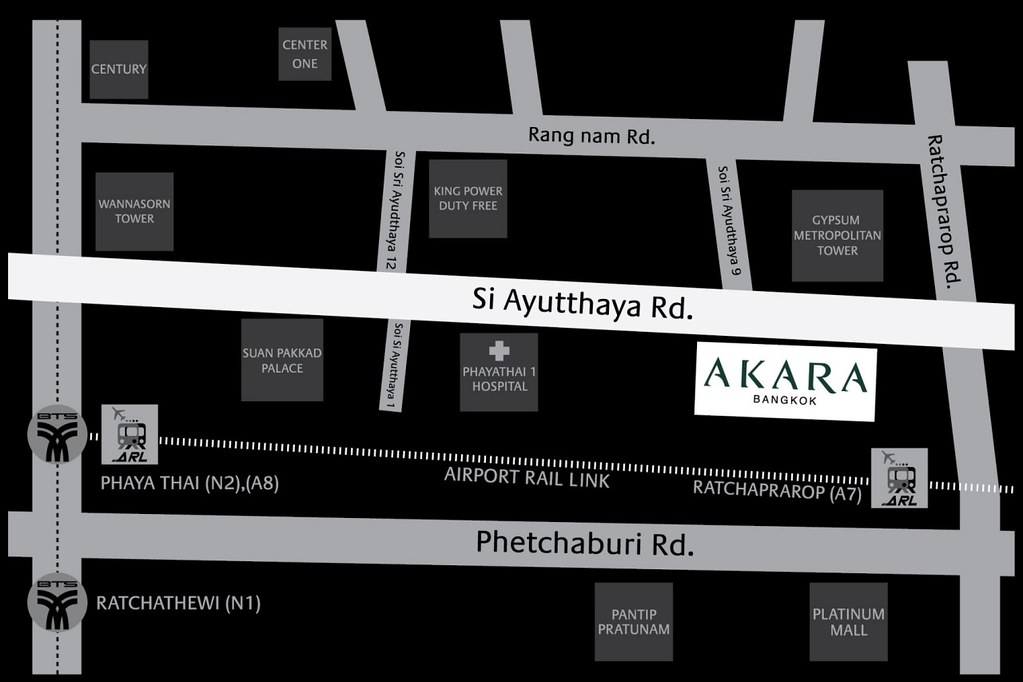 Akara Hotel Bangkok Map