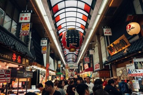 Kuromon Ichiba Market (黑門市場), Osaka, Japan