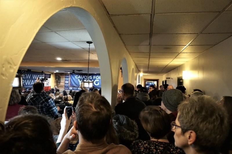 Andrew Yang Town Hall in Ames, Iowa, Feb. 1, 2020 - 2020 Iowa Caucus