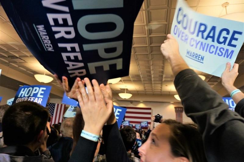 Elizabeth Warren Caucus Night Rally in Des Moines - 2020 Iowa Caucus
