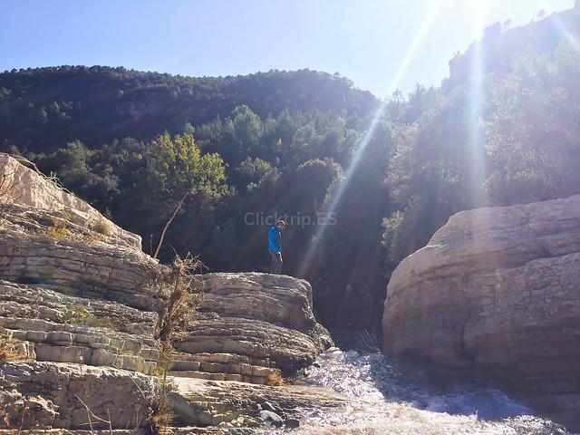Río Brugent · Poza y salto de l'Olla · Farena - ClickTrip.ES