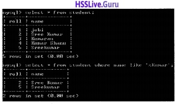 Plus Two Computer Application Structured Query Language Let Us Assess Questions and Answers 11