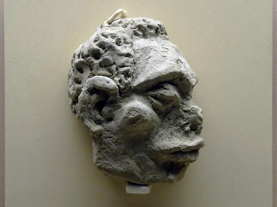 relieve cara antropomorfa 500-206 a.C. Turdetana Tartesica Ciudad romana Asido Caesarina Museo Arqueologico Medina Sidonia Cadiz