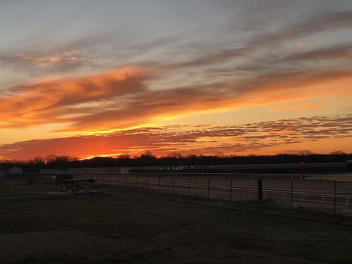 KOA Will Rogers Downs Tulsa OK - a sunset