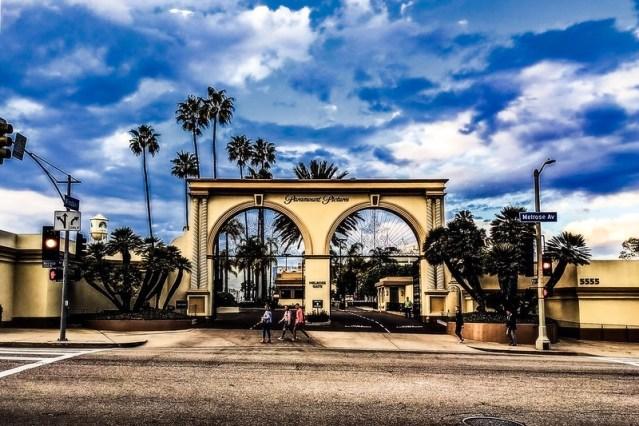 The Paramount Pictures studio gate.