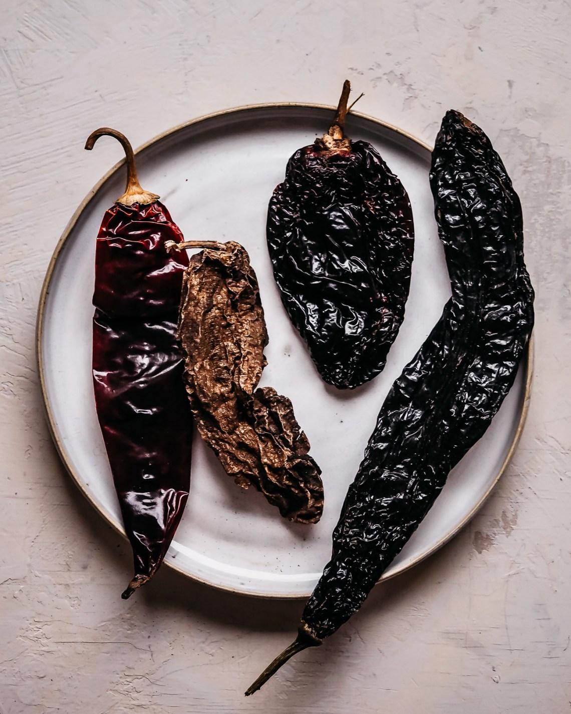 meksikolaiset kuivatut chilit