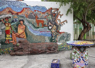 Langa workshops - mosaic entrance