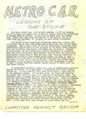 Caucus denounces union leadership following strike: 1978