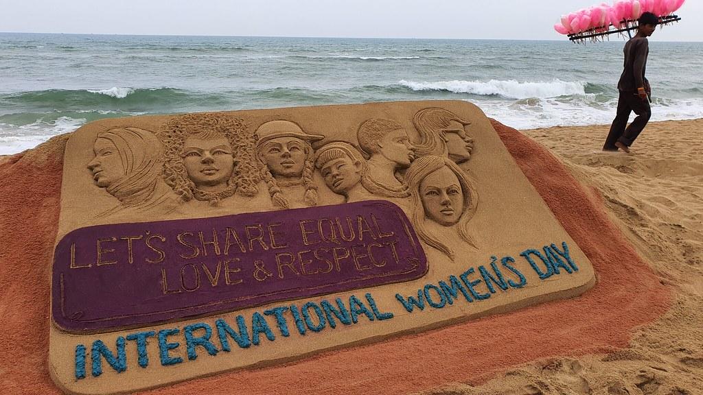Sand Art on International Women's Day