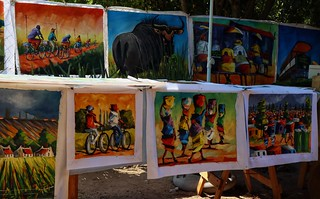 Paintings, Franschhoek market