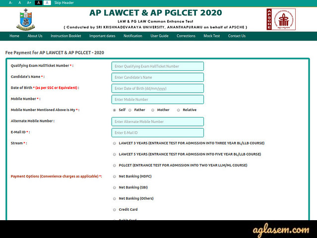 AP LAWCET Application Form 2021