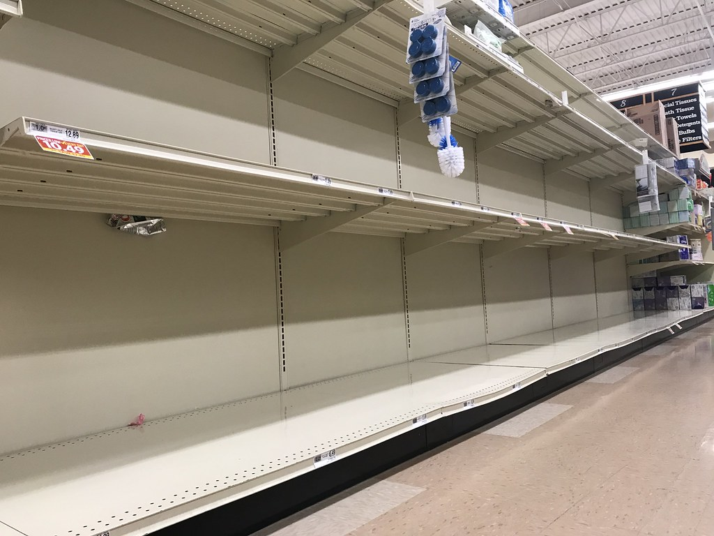 Corona clears out stores