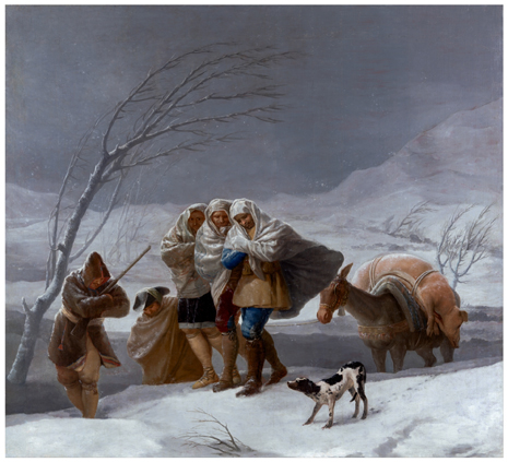 Goya La nevada o El Invierno Uti 465