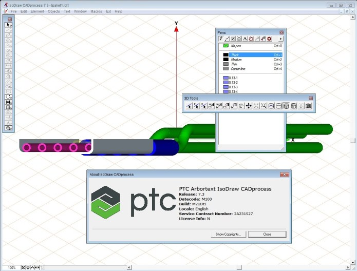 Working with PTC Arbortext IsoDraw 7.3 M100 full license