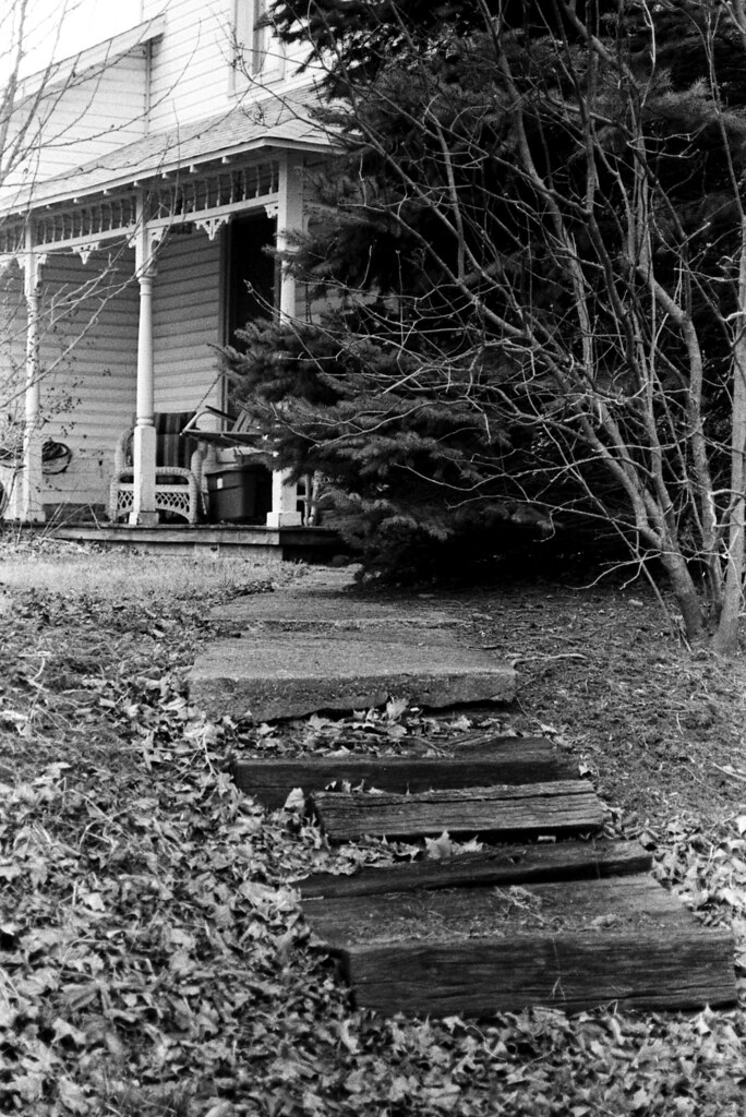 Steps to the old house