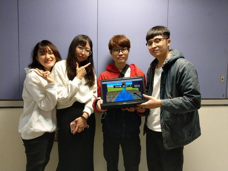 團隊成員羅婷、丁延欣、李秉彥及姚昌辰(由左至右)