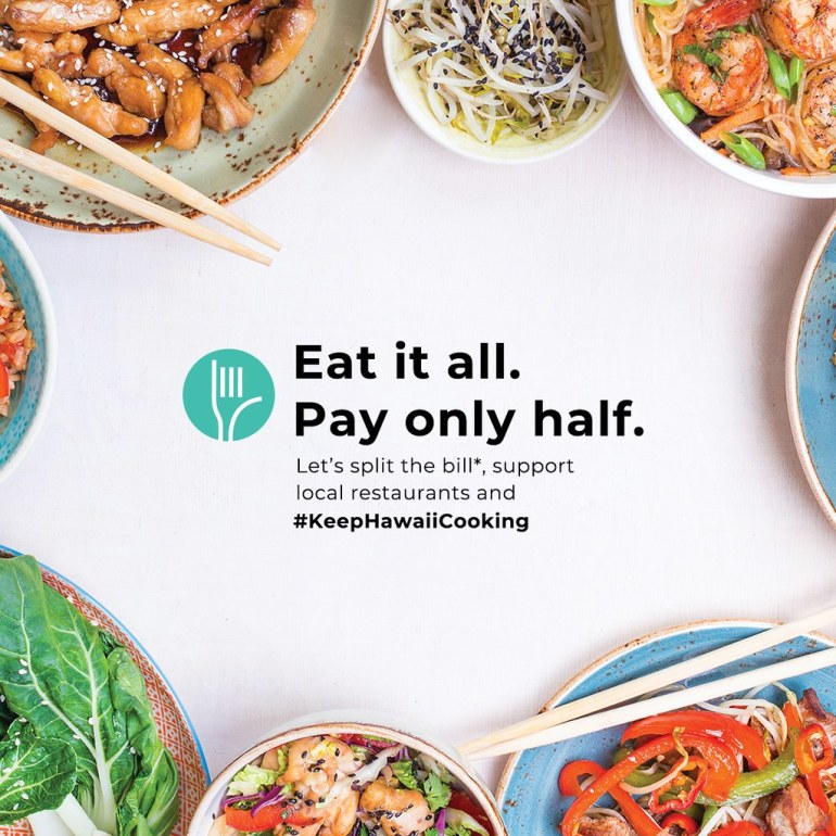 GRAB SOME LOCAL TAKEOUT, SPLIT THE BILL WITH CENTRAL PACIFIC BANK - KEEP HAWAII COOKING #KEEPHAWAIICOOKING