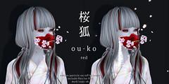 *NAMINOKE*OU-KO MASK red