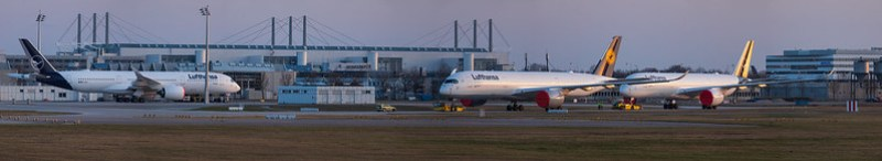 A350 parked at MUC