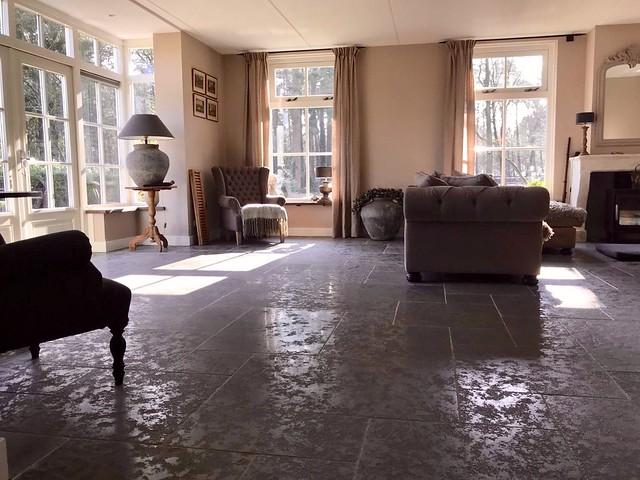 Tegelvloer woonkamer landelijk klassiek