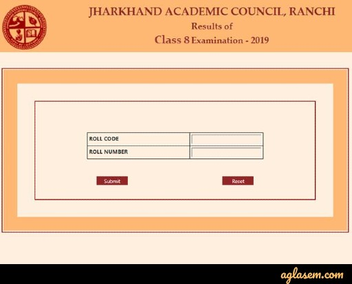 JAC 8th result login